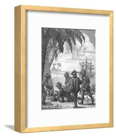 'Drake's Great Surprise for a Sleeping Man', c1934-Unknown-Framed Giclee Print