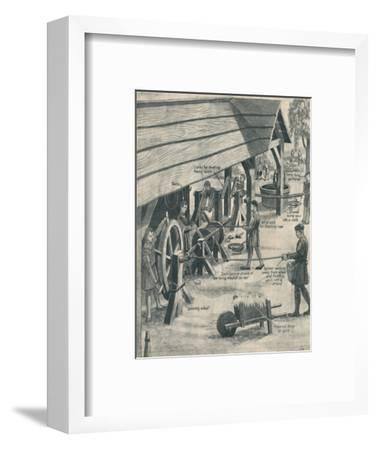 'Making Rope in the Days of the Tudors', c1934-Unknown-Framed Giclee Print
