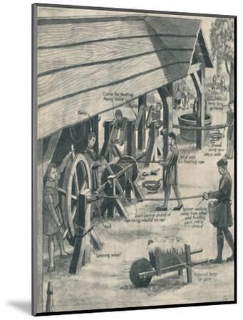 'Making Rope in the Days of the Tudors', c1934-Unknown-Mounted Giclee Print