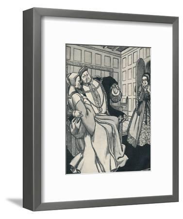 'Anne Boleyn Receives a Great Shock', c1934-Unknown-Framed Giclee Print