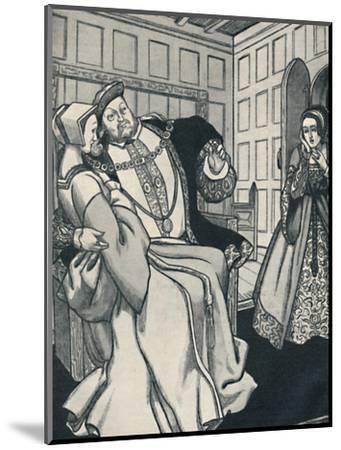 'Anne Boleyn Receives a Great Shock', c1934-Unknown-Mounted Giclee Print