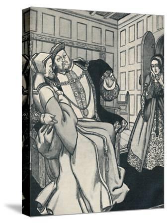 'Anne Boleyn Receives a Great Shock', c1934-Unknown-Stretched Canvas Print