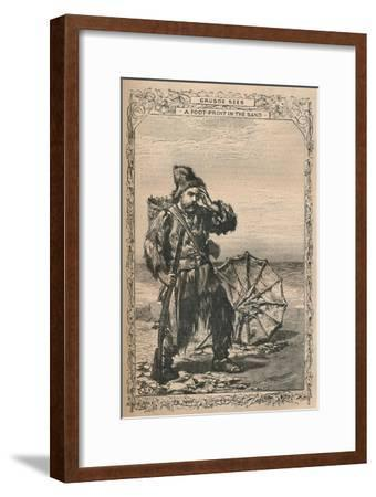 'Crusoe Sees a Foot-Print in the Sand', c1870-Unknown-Framed Giclee Print