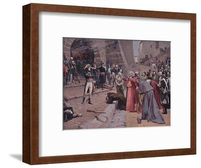 'The Siege of Pavia', 1796, (1896)-Unknown-Framed Giclee Print