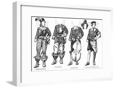'The Gallery of Historic Costume: Some Dresses of Cavaliers and Roundheads', c1934-Unknown-Framed Giclee Print