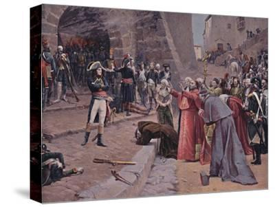 'The Siege of Pavia', 1796, (1896)-Unknown-Stretched Canvas Print
