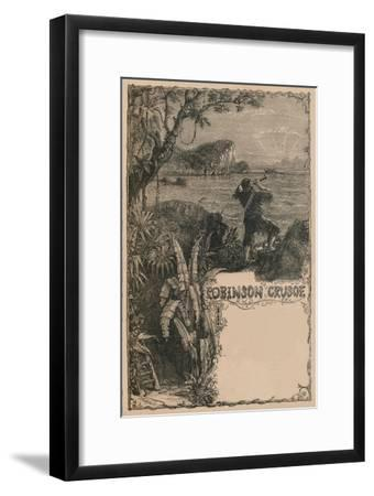 'Cassell's Robinson Crusoe', c1870-Unknown-Framed Giclee Print
