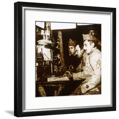 Telephonist, c1914-c1918-Unknown-Framed Photographic Print