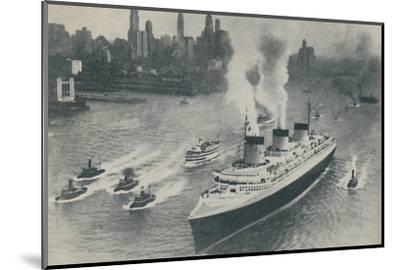 'Arrival at New York of the Normandie', 1936-Unknown-Mounted Photographic Print