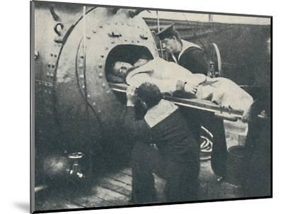 'A Recompression Chamber', 1936-Unknown-Mounted Photographic Print