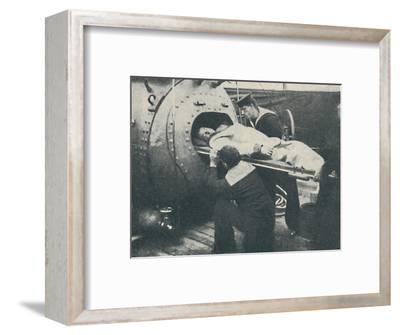 'A Recompression Chamber', 1936-Unknown-Framed Photographic Print