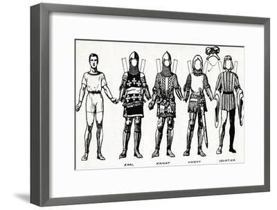 'The Great Gallery of British Costume: Dress Worn In Edward The Third's Reign', c1934-Unknown-Framed Giclee Print