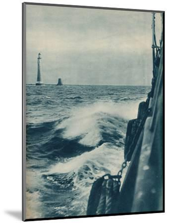'Eddystone Lighthouse', 1936-Unknown-Mounted Photographic Print
