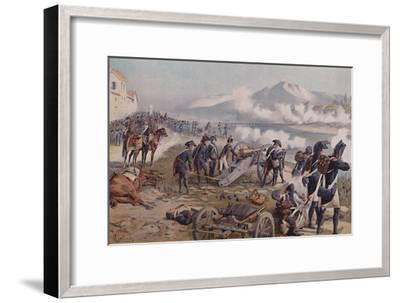 'Bonaparte Aiming The Cannon at Lodi', 1796, (1896)-Unknown-Framed Giclee Print