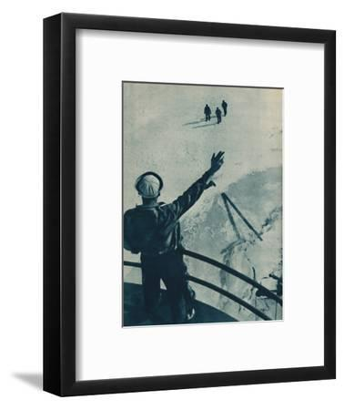 'Ice Bridge in U.S.A.', 1936-Unknown-Framed Photographic Print
