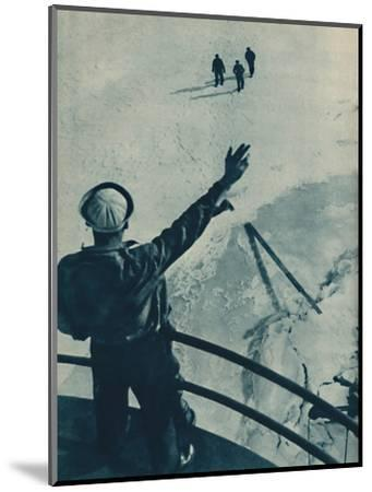 'Ice Bridge in U.S.A.', 1936-Unknown-Mounted Photographic Print