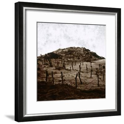Trenches at Mamelon Vert, Nieuwpoort, Flanders, Belgium, c1914-c1918-Unknown-Framed Photographic Print