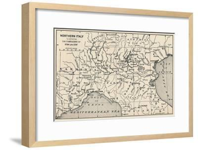 'Northern Italy - Illustrating the Campaigns of 1796 and 1797', (1896)-Unknown-Framed Giclee Print