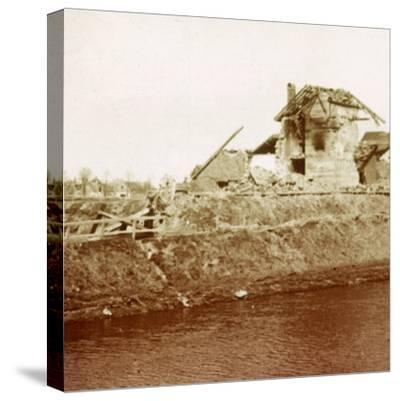 Lock-keeper's house, Nieuwpoort, Flanders, Belgium, c1914-c1918-Unknown-Stretched Canvas Print