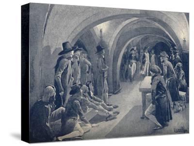 'Bonaparte Closing The Panthéon Club', 1796, (1896)-Unknown-Stretched Canvas Print