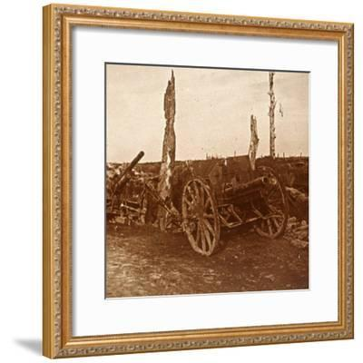 Abandoned cannons, c1914-c1918-Unknown-Framed Photographic Print