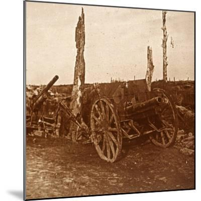 Abandoned cannons, c1914-c1918-Unknown-Mounted Photographic Print
