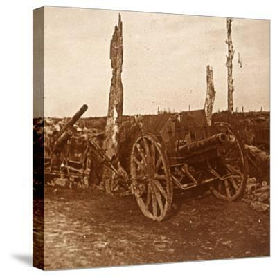 Abandoned cannons, c1914-c1918-Unknown-Stretched Canvas Print