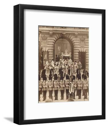 'The King and Queen Leave the Palace for their Coronation', 1937-Unknown-Framed Photographic Print