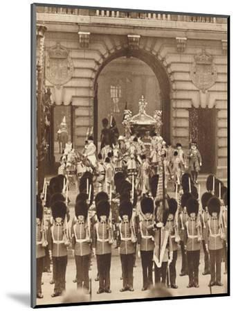 'The King and Queen Leave the Palace for their Coronation', 1937-Unknown-Mounted Photographic Print