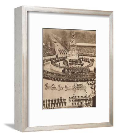 'Fanfare of Trumpets, Roll of Drums', May 12 1937-Unknown-Framed Photographic Print