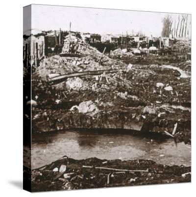 German shelter, Noordschote, Flanders, Belgium, c1914-c1918-Unknown-Stretched Canvas Print
