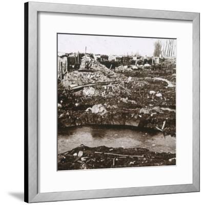 German shelter, Noordschote, Flanders, Belgium, c1914-c1918-Unknown-Framed Photographic Print