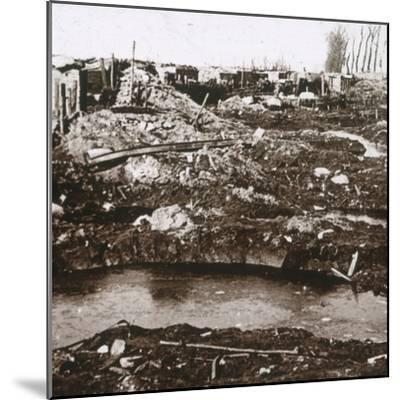 German shelter, Noordschote, Flanders, Belgium, c1914-c1918-Unknown-Mounted Photographic Print