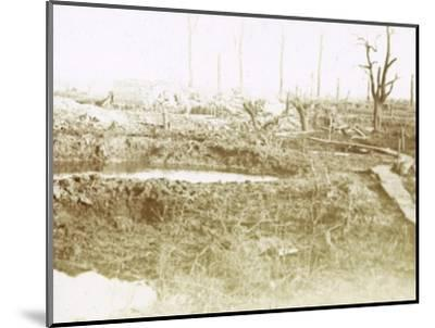 Battlefield, c1914-c1918-Unknown-Mounted Photographic Print