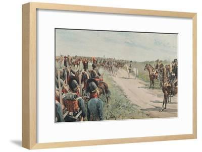 'Arrival of Napoleon Among The Bavarians and Saxons', 1896-Unknown-Framed Giclee Print