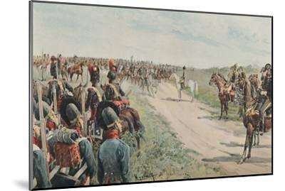 'Arrival of Napoleon Among The Bavarians and Saxons', 1896-Unknown-Mounted Giclee Print