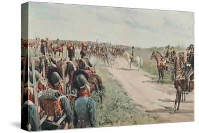 'Arrival of Napoleon Among The Bavarians and Saxons', 1896-Unknown-Stretched Canvas Print
