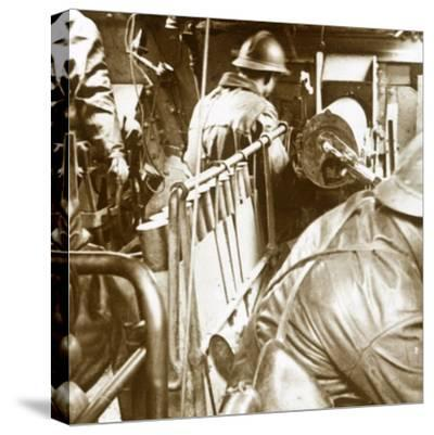 Tank interior, c1914-c1918-Unknown-Stretched Canvas Print