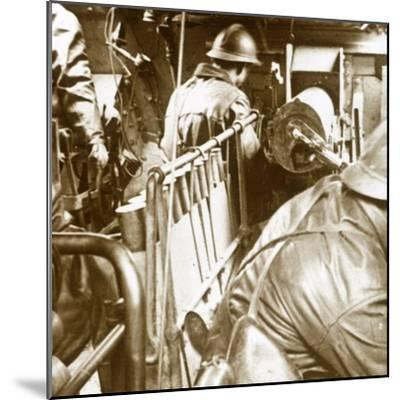Tank interior, c1914-c1918-Unknown-Mounted Photographic Print