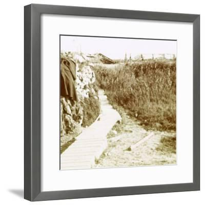 Trenches, Ramskapelle, Belgium, c1914-c1918-Unknown-Framed Photographic Print
