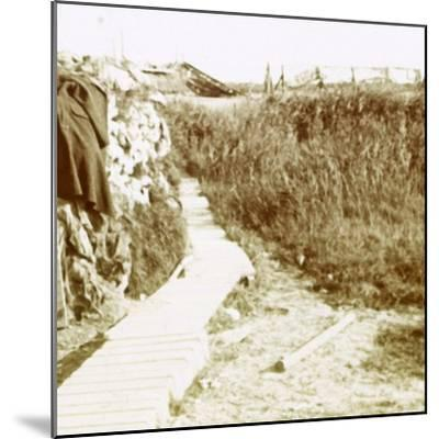 Trenches, Ramskapelle, Belgium, c1914-c1918-Unknown-Mounted Photographic Print
