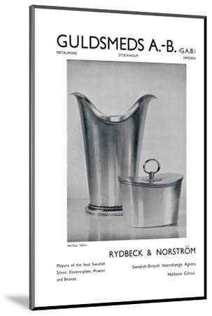 'Guldsmeds A.-B. (G.A.B.) - Sterling Silver - Rydbeck & Norström.', 1939-Unknown-Mounted Photographic Print
