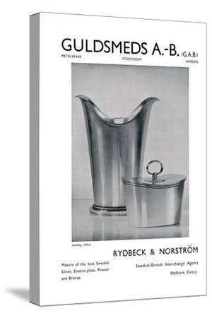 'Guldsmeds A.-B. (G.A.B.) - Sterling Silver - Rydbeck & Norström.', 1939-Unknown-Stretched Canvas Print