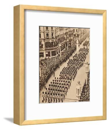 'The Guards in Oxford Street', May 12 1937-Unknown-Framed Photographic Print