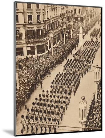 'The Guards in Oxford Street', May 12 1937-Unknown-Mounted Photographic Print