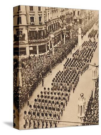 'The Guards in Oxford Street', May 12 1937-Unknown-Stretched Canvas Print