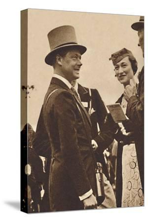 'Ascot, June, 1935 - King Edward, then Prince of Wales, with Mrs. Simpson', 1937-Unknown-Stretched Canvas Print