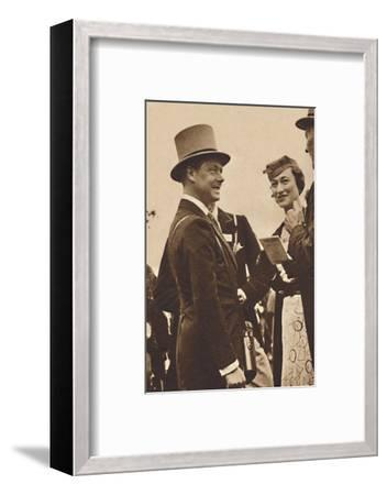 'Ascot, June, 1935 - King Edward, then Prince of Wales, with Mrs. Simpson', 1937-Unknown-Framed Photographic Print