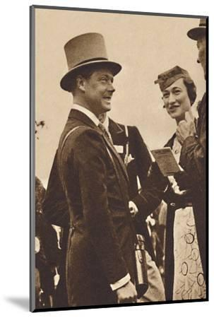 'Ascot, June, 1935 - King Edward, then Prince of Wales, with Mrs. Simpson', 1937-Unknown-Mounted Photographic Print