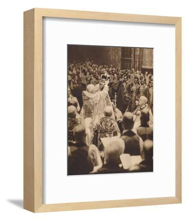 'The King is Crowned', May 12 1937-Unknown-Framed Photographic Print